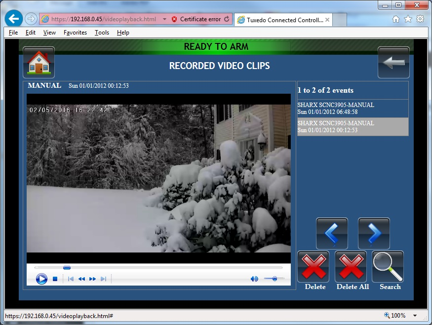 How to use Sharx Security cameras with Honeywell Tuxedo TUXWIFIS